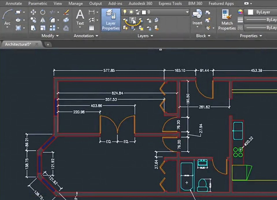 AutoCAD on Architectural Drawing Tools