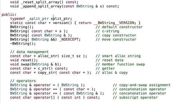 C++ Building a String Library
