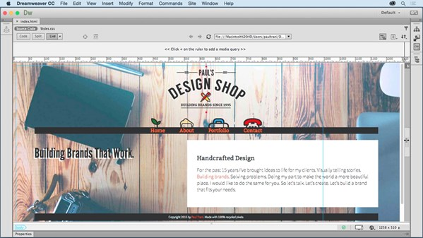 Using Adobe Muse To Design Website