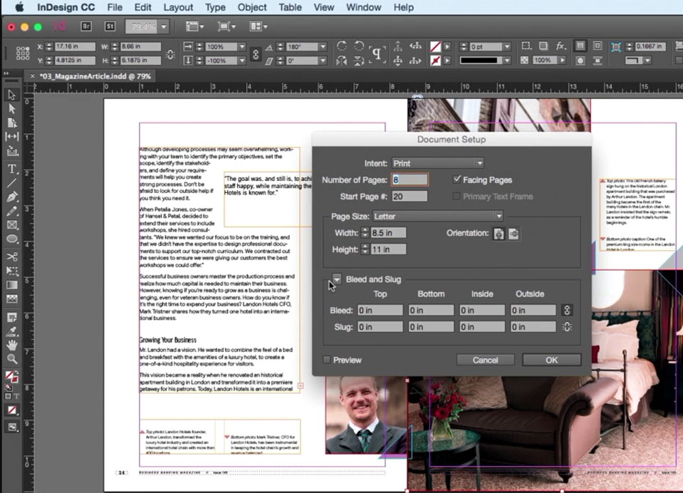 indesign classes